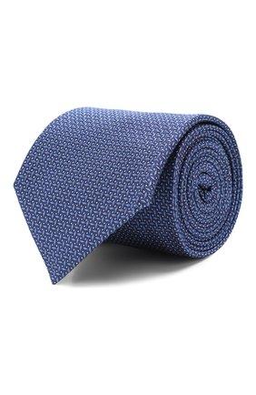 Мужской шелковый галстук CORNELIANI синего цвета, арт. 85U390-0120306/00 | Фото 1