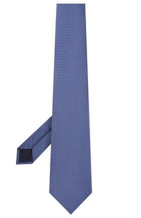 Мужской шелковый галстук CORNELIANI синего цвета, арт. 85U390-0120306/00 | Фото 2