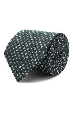 Мужской шелковый галстук CORNELIANI зеленого цвета, арт. 85U390-0120307/00 | Фото 1