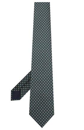 Мужской шелковый галстук CORNELIANI зеленого цвета, арт. 85U390-0120307/00 | Фото 2