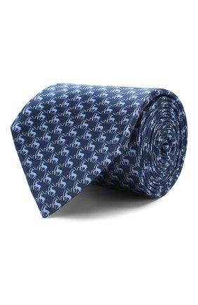 Мужской шелковый галстук CORNELIANI темно-синего цвета, арт. 85U390-0120328/00 | Фото 1