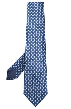 Мужской шелковый галстук CORNELIANI темно-синего цвета, арт. 85U390-0120328/00 | Фото 2