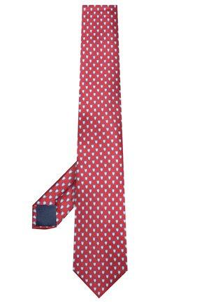 Мужской шелковый галстук CORNELIANI красного цвета, арт. 85U390-0120332/00   Фото 2
