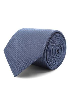 Мужской шелковый галстук CORNELIANI синего цвета, арт. 85U397-0120305/00 | Фото 1