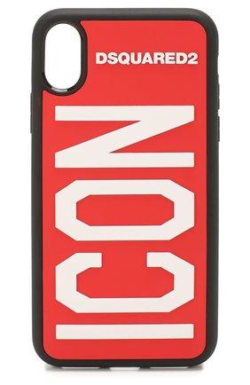 Мужской чехол для iphone x DSQUARED2 красного цвета, арт. ITM0051 35802197 | Фото 1