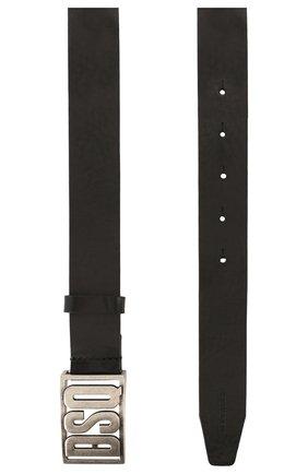 Мужской кожаный ремень DSQUARED2 черного цвета, арт. BEM0264 12900001 | Фото 2