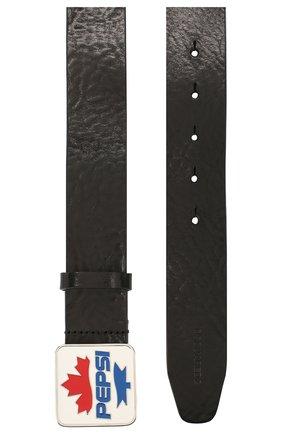 Мужской кожаный ремень DSQUARED2 черного цвета, арт. BEM0261 12900001 | Фото 2