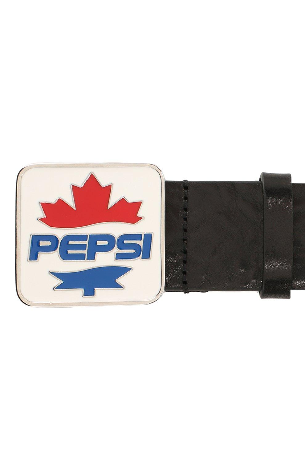 Мужской кожаный ремень DSQUARED2 черного цвета, арт. BEM0261 12900001 | Фото 3