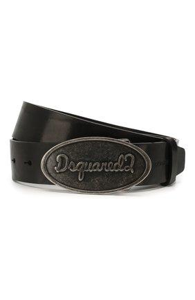 Мужской кожаный ремень DSQUARED2 черного цвета, арт. BEM0259 12900001 | Фото 1