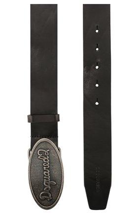 Мужской кожаный ремень DSQUARED2 черного цвета, арт. BEM0259 12900001 | Фото 2