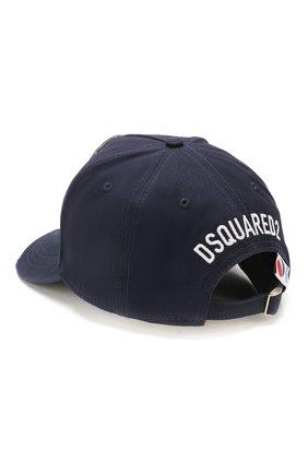 Мужской хлопковая бейсболка DSQUARED2 темно-синего цвета, арт. BCM0322 05C03071 | Фото 2