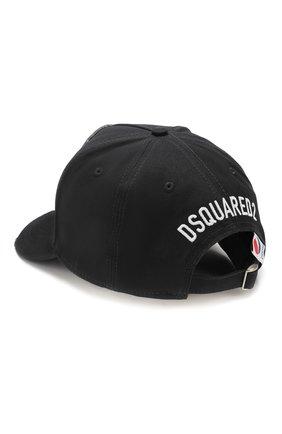 Мужской хлопковая бейсболка DSQUARED2 черного цвета, арт. BCM0322 05C03071 | Фото 2