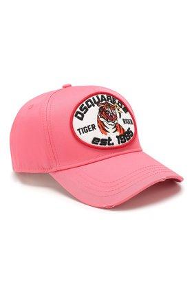 Мужской хлопковая бейсболка DSQUARED2 розового цвета, арт. BCM0284 05C00001 | Фото 1