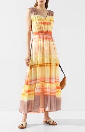 Женское шелковое платье MAX&MOI разноцветного цвета, арт. E20R0SEAU | Фото 2