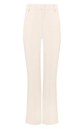Женские брюки из вискозы GUCCI белого цвета, арт. 609698/ZKR01   Фото 1