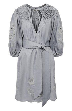 Женское льняное платье INNIKA CHOO темно-серого цвета, арт. M2002LINS01CLAY | Фото 1