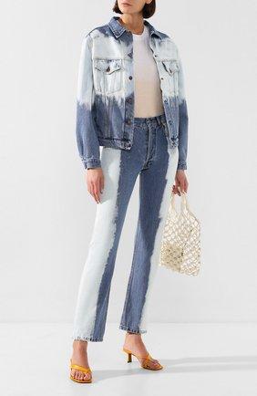 Женская джинсовая куртка FORTE DEI MARMI COUTURE голубого цвета, арт. 20SF5350-TSUM | Фото 2