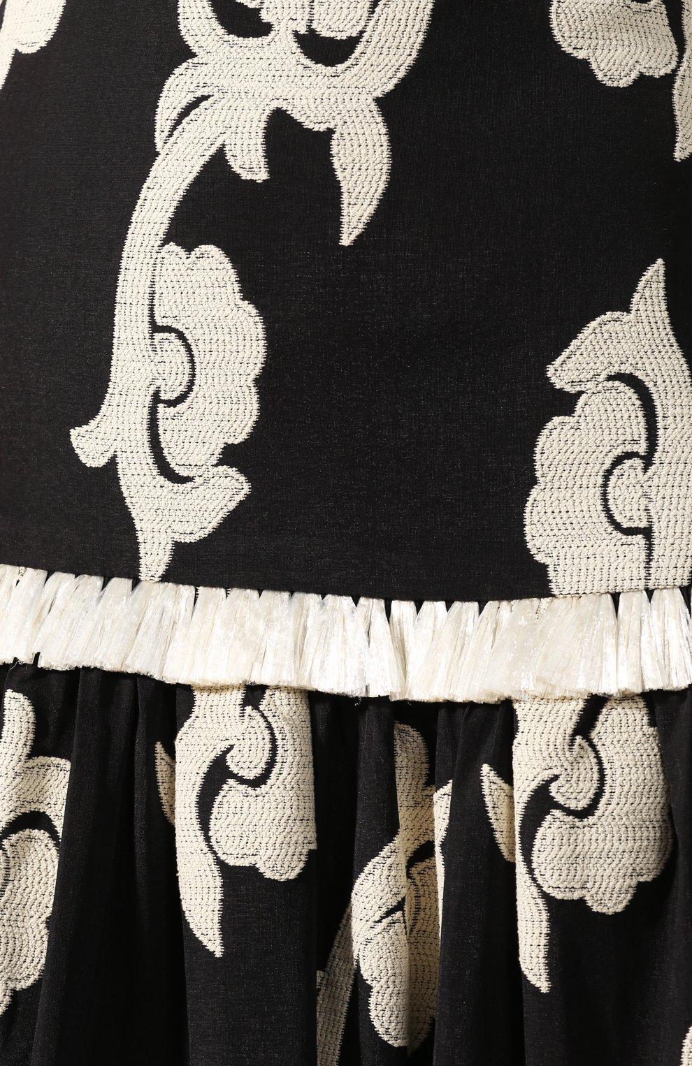 Женская юбка-макси ALEXIS черного цвета, арт. A4190904-5732   Фото 5 (Материал внешний: Хлопок; Длина Ж (юбки, платья, шорты): Макси; Материал подклада: Хлопок; Статус проверки: Проверена категория)