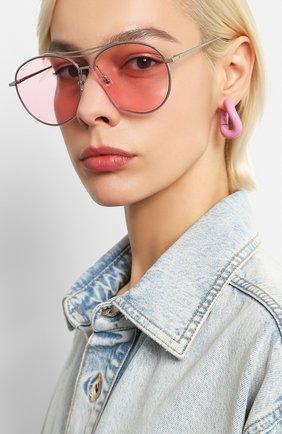 Женские солнцезащитные очки GENTLE MONSTER розового цвета, арт. JUMPING JACK 02 (P) | Фото 2