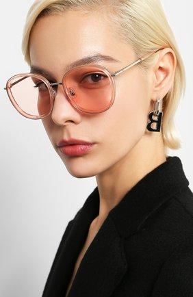 Мужские солнцезащитные очки GENTLE MONSTER розового цвета, арт. 0LLIE PC3   Фото 2