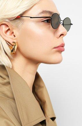 Мужские солнцезащитные очки GENTLE MONSTER черного цвета, арт. C0BALT M01   Фото 2