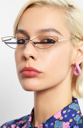 Женские солнцезащитные очки GENTLE MONSTER серебряного цвета, арт. P0XI 02 | Фото 2