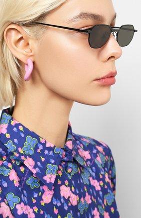 Женские солнцезащитные очки GENTLE MONSTER черного цвета, арт. V0YAGERM M01 | Фото 2