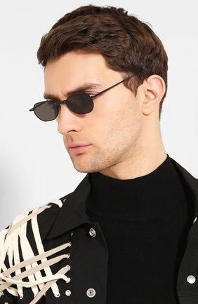 Женские солнцезащитные очки GENTLE MONSTER черного цвета, арт. V0YAGERM M01 | Фото 3