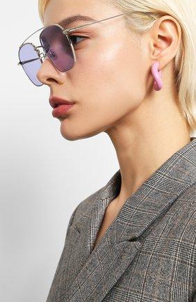 Мужские солнцезащитные очки GENTLE MONSTER фиолетового цвета, арт. W00GIE 02(V)   Фото 2