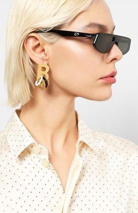Мужские солнцезащитные очки GENTLE MONSTER черного цвета, арт. C0LD 01   Фото 2