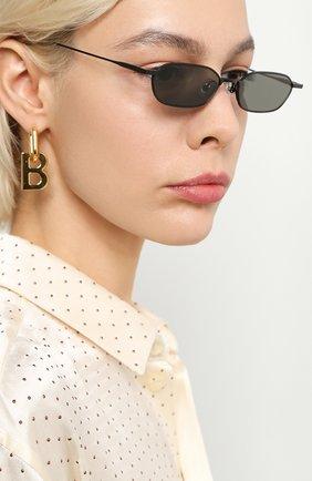 Мужские солнцезащитные очки GENTLE MONSTER черного цвета, арт. ALM0ND M01   Фото 2