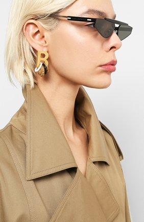 Женские солнцезащитные очки GENTLE MONSTER черного цвета, арт. NEWTURTLE M01 | Фото 2