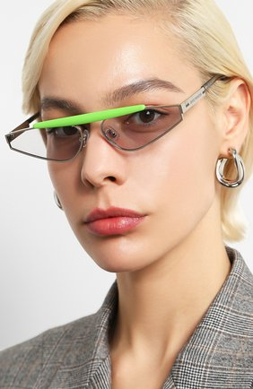 Мужские солнцезащитные очки GENTLE MONSTER серебряного цвета, арт. NEWTURTLE GR1   Фото 2