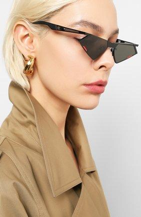 Мужские солнцезащитные очки GENTLE MONSTER черного цвета, арт. SC0N M01   Фото 2