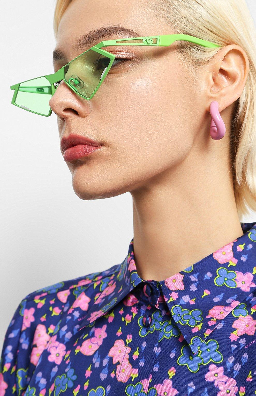 Женские солнцезащитные очки GENTLE MONSTER зеленого цвета, арт. SC0N GR1 | Фото 2