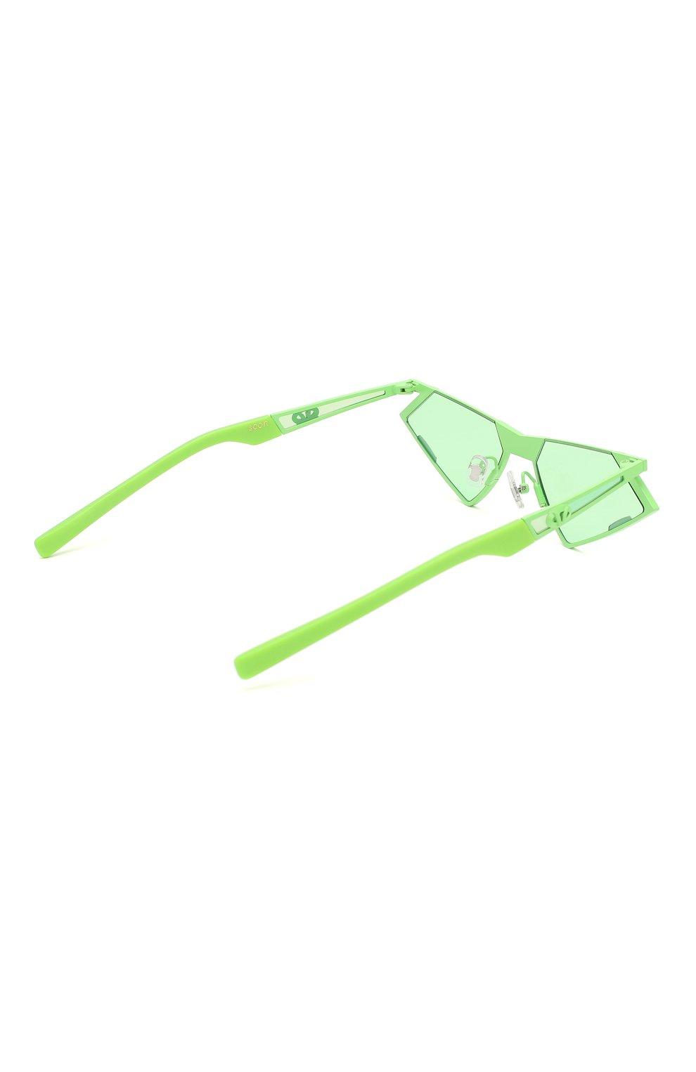 Женские солнцезащитные очки GENTLE MONSTER зеленого цвета, арт. SC0N GR1 | Фото 5