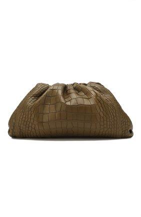 Женский клатч pouch из кожи аллигатора BOTTEGA VENETA хаки цвета, арт. 576227/VCPX0/AMIS | Фото 1