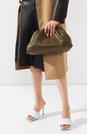 Женский клатч pouch из кожи аллигатора BOTTEGA VENETA хаки цвета, арт. 576227/VCPX0/AMIS | Фото 2