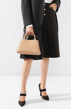 Женская сумка BOTTEGA VENETA бежевого цвета, арт. 607326/VCPP1 | Фото 2