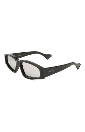 Мужские солнцезащитные очки GUCCI черного цвета, арт. 610879/J0740   Фото 1