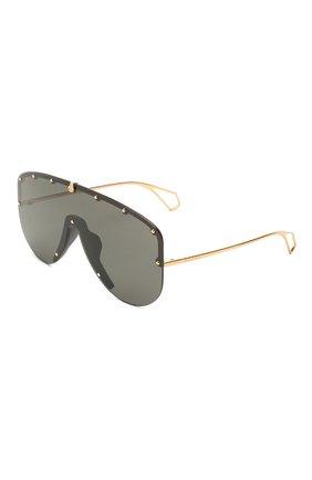 Мужские солнцезащитные очки GUCCI черного цвета, арт. 610414/I3330   Фото 1
