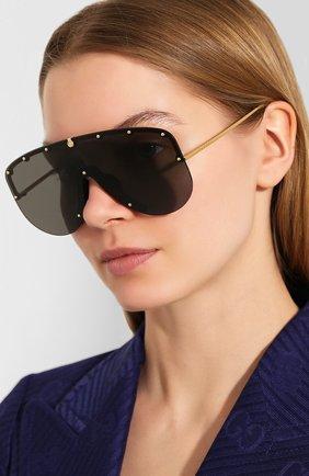 Мужские солнцезащитные очки GUCCI черного цвета, арт. 610414/I3330   Фото 2