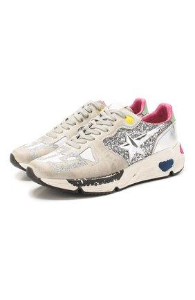 Женские комбинированные кроссовки running sole GOLDEN GOOSE DELUXE BRAND серебряного цвета, арт. G36WS963.N2 | Фото 1