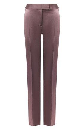 Женские брюки из смеси вискозы и льна TOM FORD сиреневого цвета, арт. PAW297-FAX595 | Фото 1