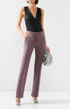 Женские брюки из смеси вискозы и льна TOM FORD сиреневого цвета, арт. PAW297-FAX595 | Фото 2