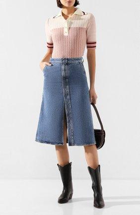 Женская джинсовая юбка STELLA MCCARTNEY синего цвета, арт. 600925/SNH90 | Фото 2