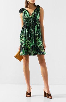 Женское хлопковое платье DOLCE & GABBANA зеленого цвета, арт. F6I3KT/HS5HE | Фото 2