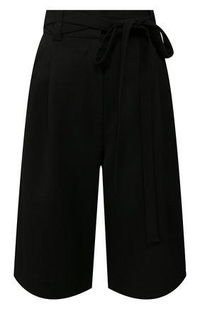 Женские шерстяные шорты VALENTINO черного цвета, арт. TB0RD0755J2 | Фото 1