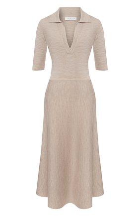 Женское платье из смеси шерсти и кашемира GABRIELA HEARST бежевого цвета, арт. 320914 A004 | Фото 1
