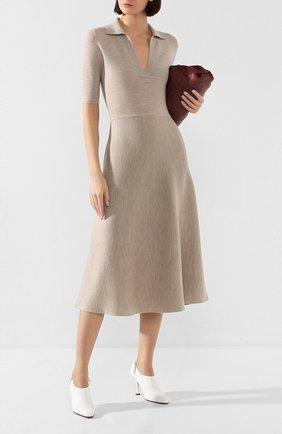 Женское платье из смеси шерсти и кашемира GABRIELA HEARST бежевого цвета, арт. 320914 A004 | Фото 2